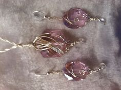 Pink wire wrapped jewelry
