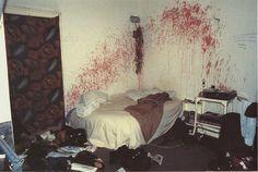 """NAN GOLDIN """" Bloody bedroom in a squat in Berlin """" 1984"""