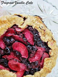 Amy's Vegan Blueberry Pluot Galette with Hazelnut Oat Crust, y'all.  via @vanilla_cake