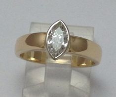 Simple and Classic Marquise Diamond Ring