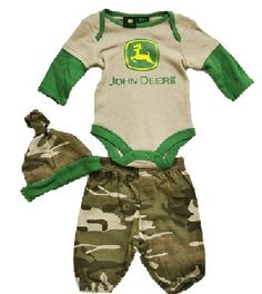 Look a baby redneck starter kit! All that's missing is a little Budweiser bottle, a huntin' rifle, and a love of NASCAR. Welcome to 'Merica.