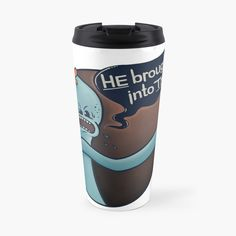 Mister Meeseeks, Rick And Morty, Do Everything, Notebooks, Travel Mug, My Arts, Bring It On, Mugs, Printed