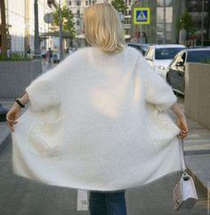 Кардиган вязаный `Кружева`, молочный, из Ангоры, теплый, красивый. Кардиган вязанный из ангоры Anny Blatt. Купить кардиган. Кардиган ручной работы.