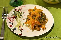 Délicieux feuilleté aux champignons version étoilée Tacos, Mexican, Chicken, Meat, Ethnic Recipes, Food, Healthy, Recipe, Kitchens