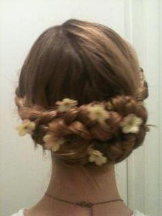 katniss(hunger games) reaping hair!