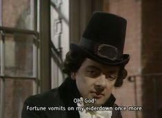 When Blackadder knew he was stuffed. British Sitcoms, British Comedy, Comedy Series, Comedy Tv, Welsh, British Insults, Blackadder Quotes, Jeeves And Wooster, Laugh Track