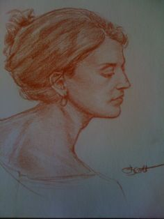 Portrait in Conte Pencil