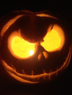 Jack Skeleton carved pumpkin Nightmare Before Christmas jack-o-lantern