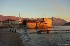 Again in Budva Old Town or Mild Winter on the Adriatic Shore Fishing Villages, Montenegro, Old Town, The Locals, Palm Trees, Night Life, Monument Valley, Europe, City