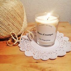 Bougie parfumée Fleur d oranger  Scented candle orange blossom