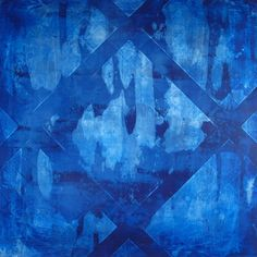 Abstract art  Pia Haugseth  Blue - silver