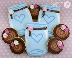 Custom Rustic Sugar Cookies (Set of Eight) by Sweet17Cookies on Etsy