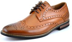 Amazon.com | Bruno HOMME MODA ITALY PRINCE Men's Classic Modern Oxford Wingtip Lace Dress Shoes, PRINCE-5-DARK-BROWN, 6.5 D(M) US | Oxfords