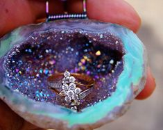 online shopping for Opal Geode ring box from top store. See new offer for Opal Geode ring box Wedding Jewellery Boxes, Moissanite Wedding Rings, Ring Holder Wedding, Leaf Engagement Ring, Ring Displays, Forever One Moissanite, Vintage Rings, Crystal Jewelry, Rocks