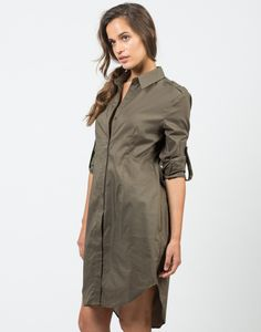 Structured Oversized Shirt Dress – Tops – 2020AVE