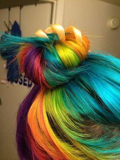 Pretty rainbow hair