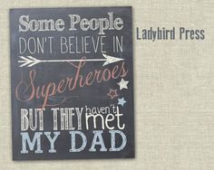 Father's Day Printable  Superhero  Dad  by LadybirdPress on Etsy, $5.00