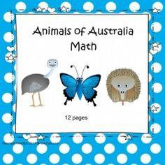 Australian Animals Maths Kindergarten