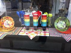 colorful front window at next summer