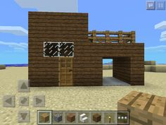 easy minecraft build/house. Use the picture to build it, just count the blocks on the pic, and copy it to your minecraft world!