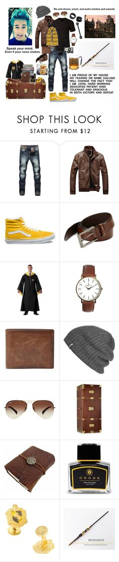 """Teddy Lupin"" by slytherinravenclaw on Polyvore featuring LE3NO, Vans, HUGO, Nibello, FOSSIL, Outdoor Research, Ray-Ban, The Bridge, Cross and Cufflinks, Inc."