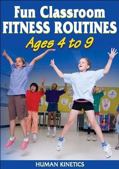 Fun Classroom Fitness Routines Ages 4 to 9 - This DVD will keep kids active and moving in a way that's appropriate for their ages and interests. Students watch the DVD and follow along with award-winning educator and host Carol Scaini as she demonstrates each exercise routine. The DVD contains five ready-to-go fitness routines lasting 10 minutes each, plus a 7-minute warm-up and stretch routine.
