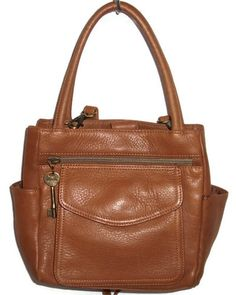 Fossil - Brown Leather Tote Purse with removable Shoulder Strap - EUC $36.99. I SOO want this purse- I have matching wallet. This one is sold...dammm