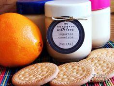 Telita na Cozinha: iogurtes de laranja e bolacha