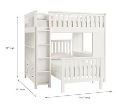 Elliott Loft System and Twin Bed - Simply White Open Shelving Units, Ideas Geniales, Loft Spaces, High Quality Furniture, Upholstered Furniture, Diy Furniture, Pottery Barn Kids, 6 Years, Bunk Beds