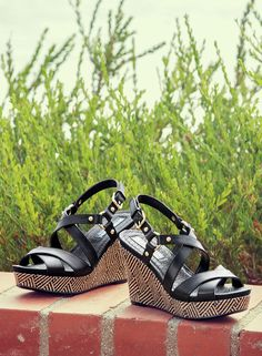 d1061c73c0ad0 textured wedges are a HUGE spring trend Naturalizer Shoes
