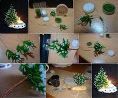 Herringbone Beans Miniature Christmas Tree