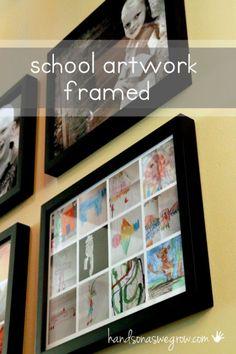 School artwork framed (or framed collages)