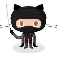 Currently browsing 40 Funny and Adoptable Octocats for your design inspiration Tech Image, Donald O'connor, Ninja Cats, Brand Character, App Logo, Guy, Computer Programming, Baby Disney, Stickers