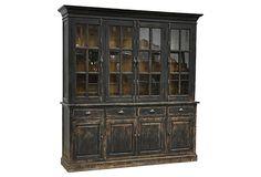 "Clara Hutch Cabinet in reclaimed pine on OneKingsLane.com.  82""W x 20""D x 86""H.  $3,700."
