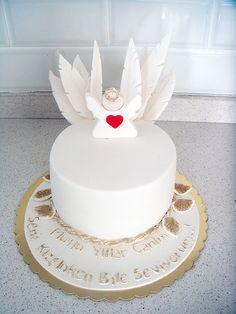 """""""Melek"""" Temalı Butik Doğumgünü Pastası.! Angel Fondant cake.! Angel Birthday Cake.!"""