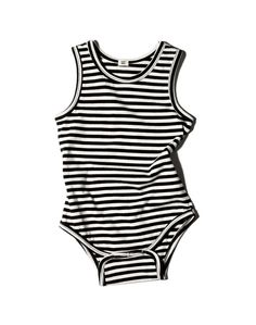 Goat Milk Striped Organic Sleeveless One-piece