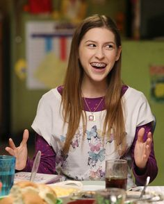 Sue Heck from The Middle. My family thinks I look and act like her, which yeah I guess I do sometimes lol.