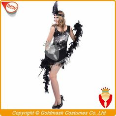 Newest Hot Selling Retail Sexy Fashion Flapper Adult Costume, Free Shipping Fast Delivery $19.99