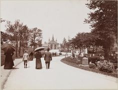A pedestrian stroll at Greenwood Cemetery in Brooklyn, NY, during the Gilded Age ~ May 30, 1899.