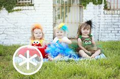 Sesame Street inspired tutu sets by Fit For A Princess Infant & Children's Boutique.