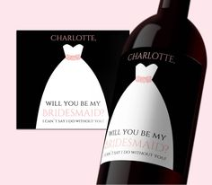 INSTANT DOWNLOAD PDF Template 3,5x4 Editable Wine Label Be my Bridesmaid tag Bridesmade calligraphy Printable Wedding Wine Labels Digital by DreamPrintable on Etsy #wedding #instant #download #printable #image #graphic #digital #reception_sign #PDF #Template #wedding_ceremony #wedding_sign #events_design #wedding_printable #wedding_design #Calligraphy #Sign #events