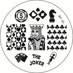$1.79 The Joker Theme Nail Art Stamping Template Image Plate BORN PRETTY BP63 - BornPrettyStore.com