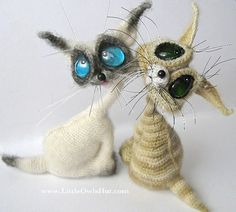 Cat Siam Amigurumi toy with wire frame Crochet Pattern PDF file by Pertseva (Dragon eyes). $10.00, via Etsy.
