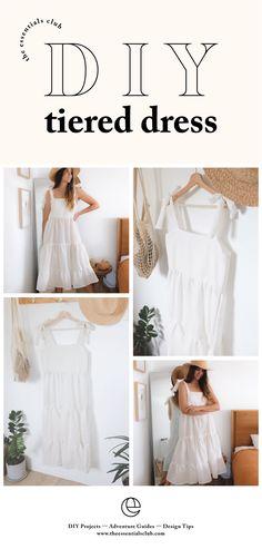 Diy Clothing, Sewing Clothes, Clothing Patterns, Dress Patterns, Dress Sewing Tutorials, Sewing Projects, Fashion Sewing, Diy Fashion, Kleidung Design