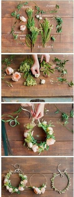 DIY Flower Crowns are perfect for so many occasions! Weddings, baby showers, first birthdays and bridal showers. Get the artificial flowers for cheap from www.floralsforless.com