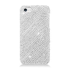 The #Hard #Case #Cover - Silver w/ Full Rhinestones will make your #Apple #iPhone #5C #Light #Lite safe from scratches, drops, and other damages. Furthermore it make your phone more attractive with sparkling beads! Come to @Acetag and get it now, just $15.99