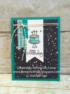 Design With Ink: Emerald Envy Birthday Fun...Stampin' Up! Endless Birthday Wishes, Simple Birthday Card
