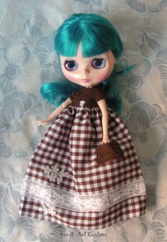 COUNTRY STYLE DRESS FOR BLYTHE OR SIMILAR via EVA G. ART CUSTOM. Click on the image to see more!