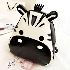 [ghyxh320601]Cute Cartoon Hippo Contrast Color Backpack