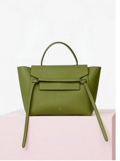 S/S 2016 Celine Collection Outlet-Celine Mini Belt Bag in Almond Baby Grained Calfskin